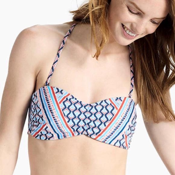 cb8830505c8 Lucky Brand Swim | Bandeau Bikini Top Venice Vibes | Poshmark